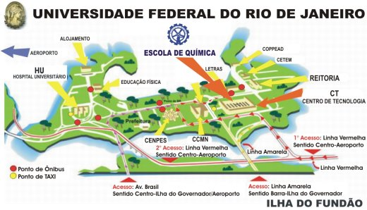 School of Chemistry of UFRJ - Map of Ilha do Fundão